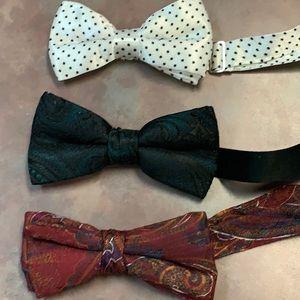 Set of 3 Vintage Bow Ties